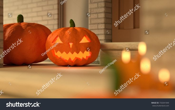 Halloween Home Decoration - (3D rendered) #3 - Day Version