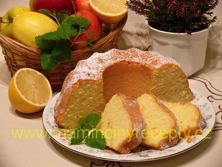 Citronová třená bábovka