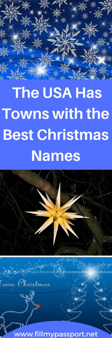 The USA Has Towns with the Best Christmas Names! Check out these adorable towns that truly bring out the spirit of the season including Santa Claus Indiana, Bethlehem Pennsylvania, and Snowflake Arizona to name a few.