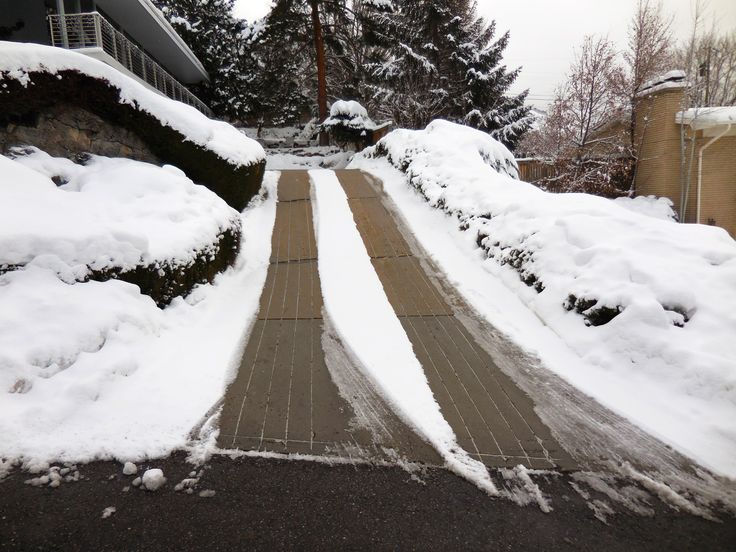 31 best heated driveways images on pinterest driveways for Steep driveway construction