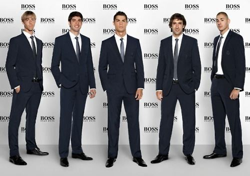 A bunch of Real Madrid men.
