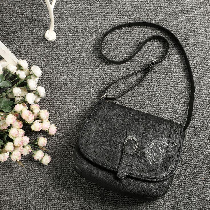 Новый 2016 женщины старинные женщины сумка искусственная кожа сумки дамы мода выдалбливают черная сумка кроссбоди купить на AliExpress
