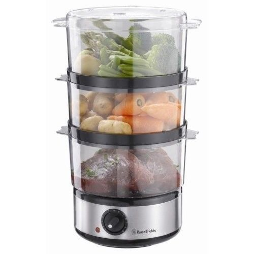 Electric Food Steamer 3 Tie Kitchen Vegetable Multi Cooking Fast Stainless Steel