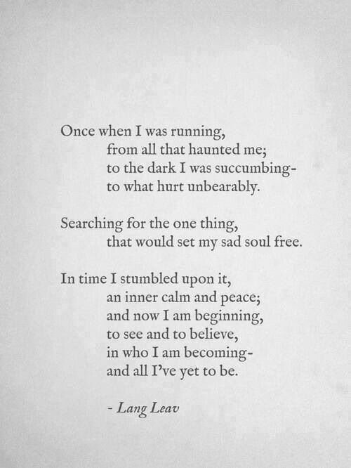 Once when I was running...