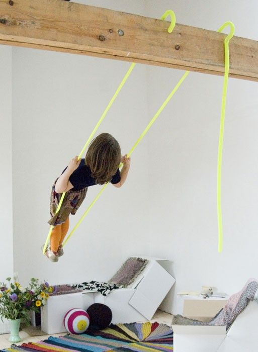 For when I'll have beams everywhere! Hooks Fluorescent Swing