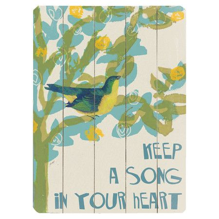 Song in Your Heart Wall Decor
