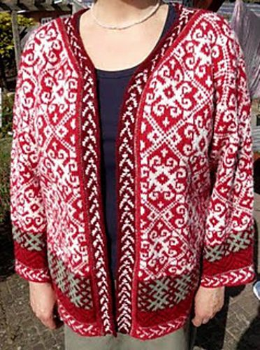Ravelry: Sanaze's Giant Latvian Mitten Cardigan
