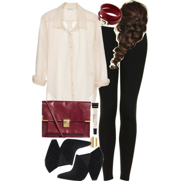 """Allison Inspired Birthday Dinner Outfit with Leggings"" by veterization on Polyvore"