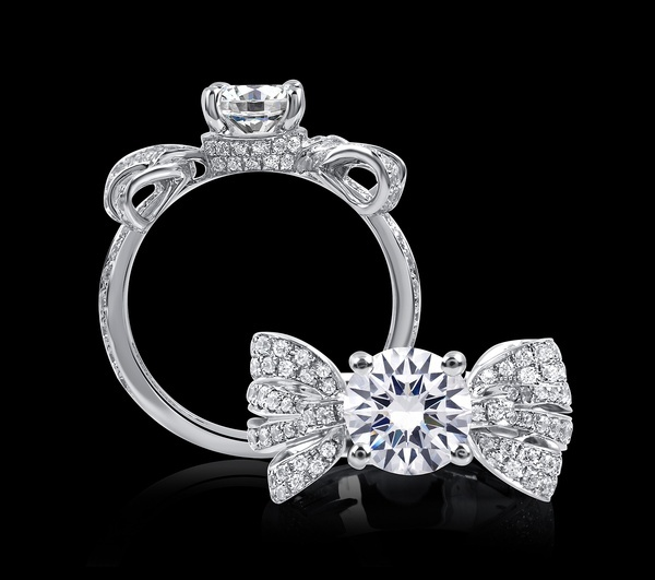 A. Jaffe Bow engagement ring