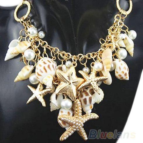 Cheap New hot hot tono oro sea shell stella della perla di faux dichiarazione bib necklace 0325, Compro Qualità Collane Chain direttamente da fornitori della Cina:      Descrizione del prodotto:  Circostanza: nuovo senza modifiche  Materiale: lega, conchiglia, perla