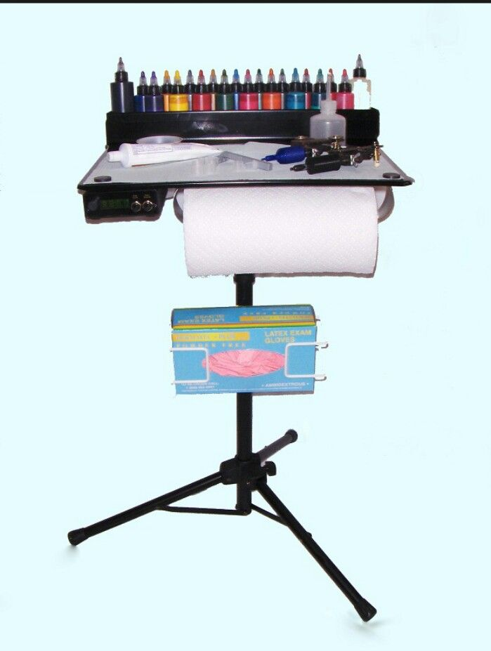 Small portable ink tattoo table.