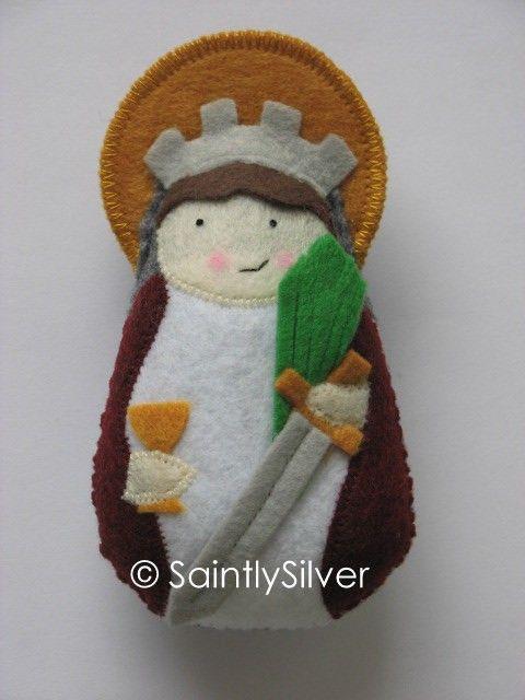 Saint Barbara Felt Saint Softie by SaintlySilver on Etsy, $18.00