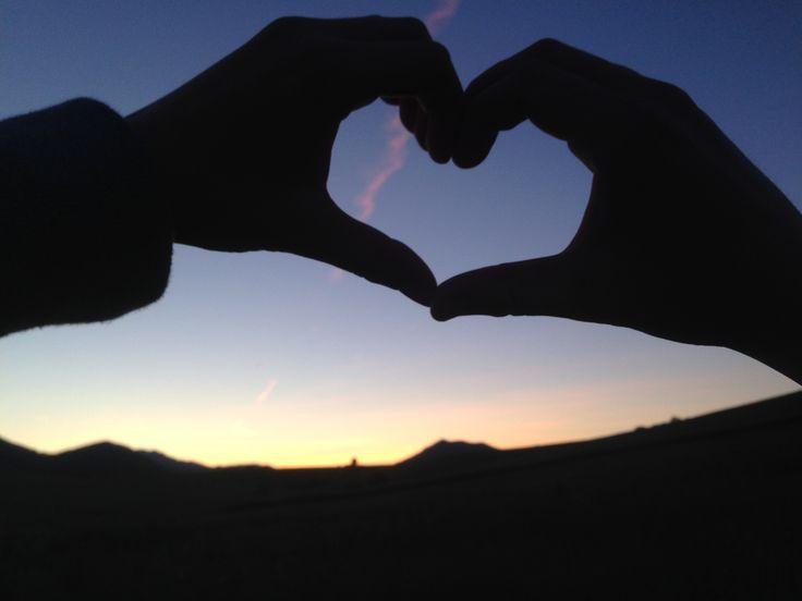 Heart on the sky or sky on the heart ? <3