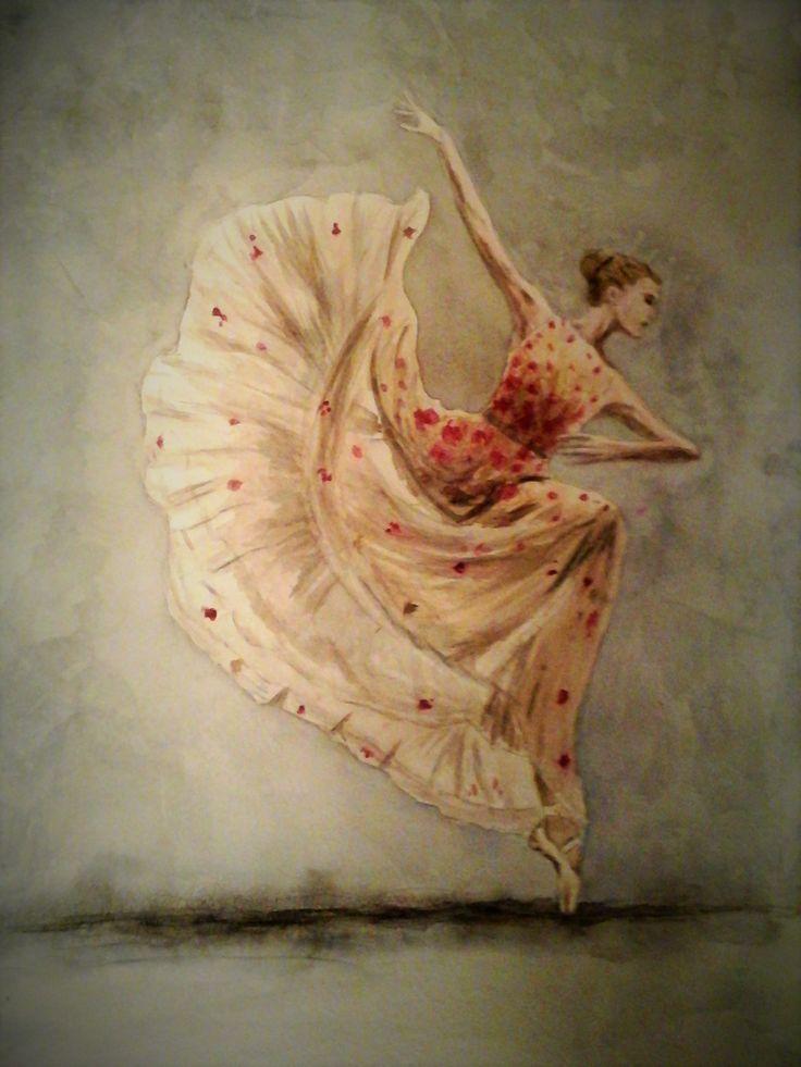 Ballerina. Watercolour