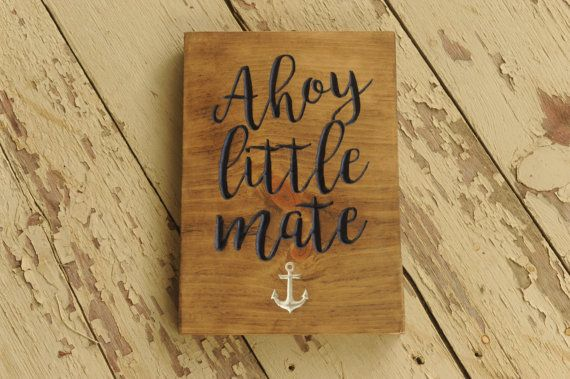 Nautical Sign  Wood CNC Sign  Nautical Decor  Pine Wood by OYKNOT