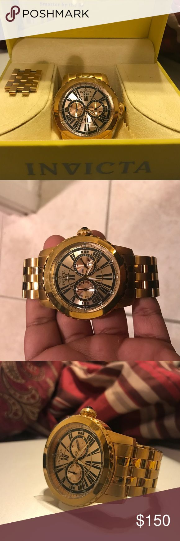 Invicta Men's Specialty model 14588 Gold Watch Looks new Includes box and all original documents Invicta Accessories Watches