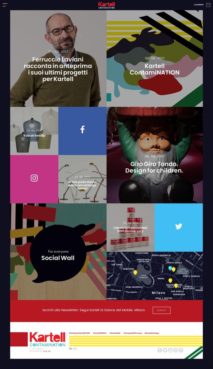 Kartell Contamination al Salone del Mobile 2017 Online il sito realizzato da GAG e dedicato all'evento più atteso dell'anno nel settore del design.