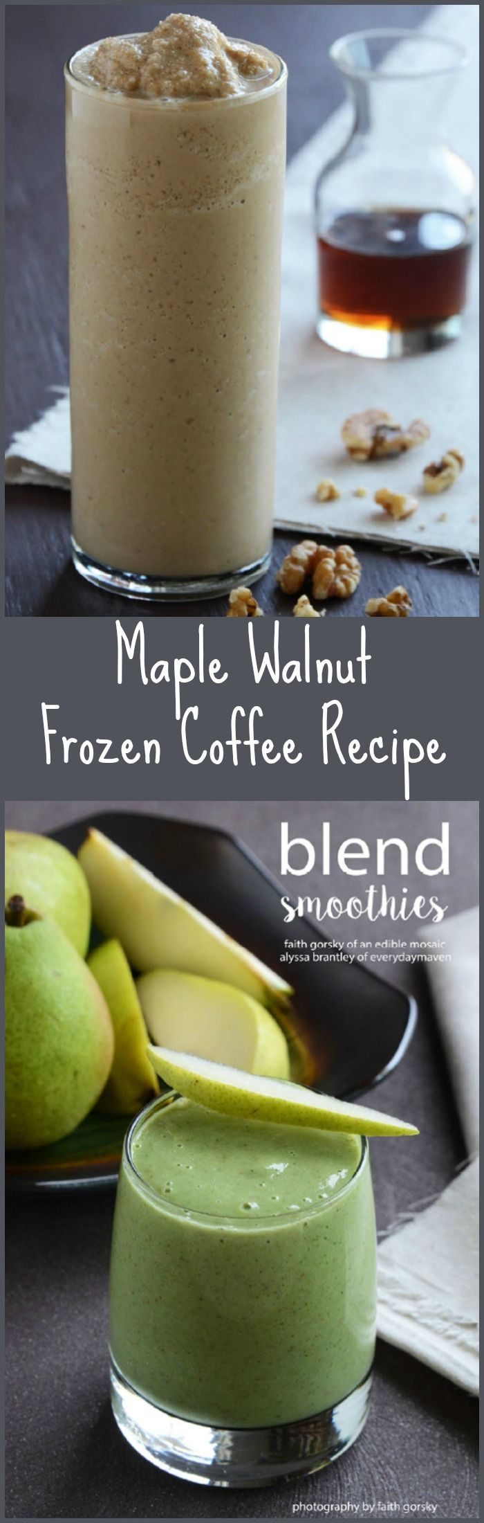 You have to try this Vegan Maple Walnut Blended Coffee from the Blended Smoothies ebook. The drink and the ebook are awesome!
