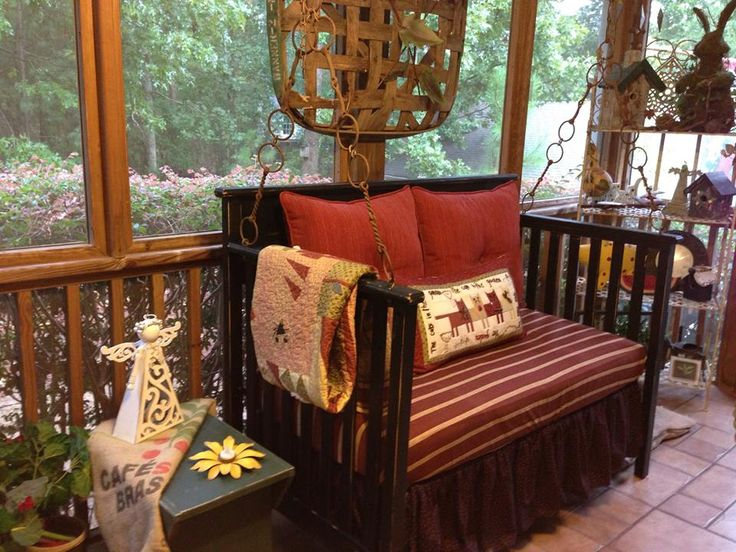 14 best images about repurposed baby bed on pinterest old cribs toddler bed and quilt racks. Black Bedroom Furniture Sets. Home Design Ideas