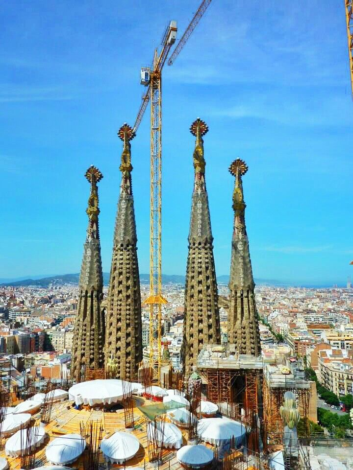 Gaudi's unfinished artwork ( Barcelona,  Spain)