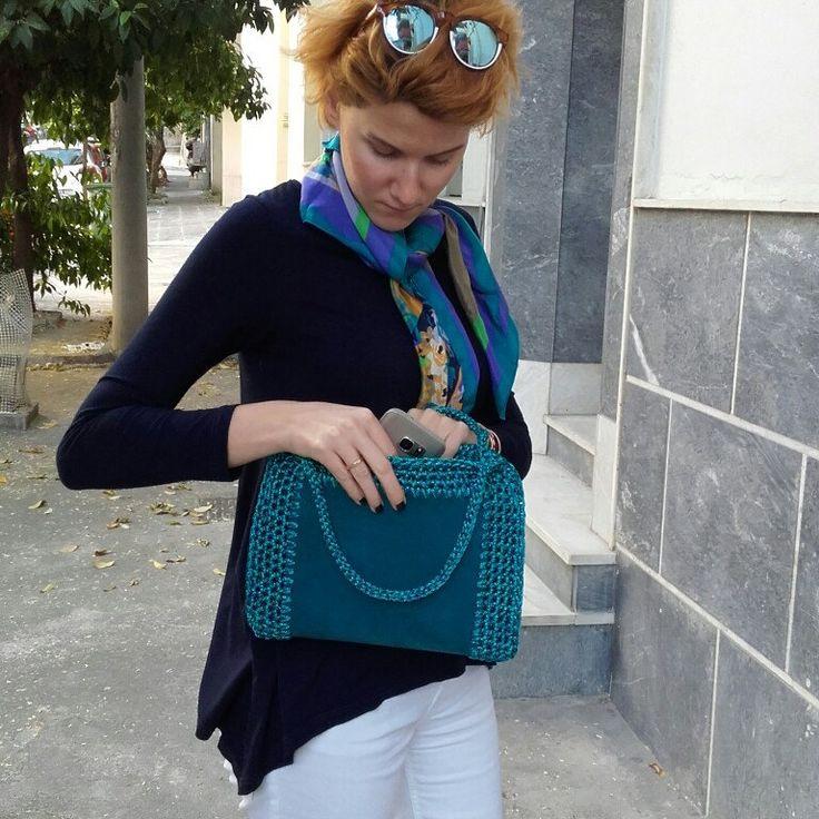 Leather crochet bag Summer purses 2017 Leather crochet