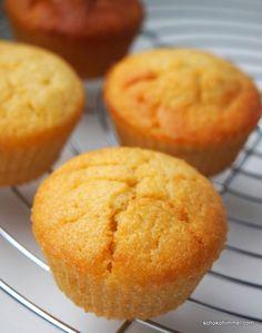 goldgelbe Apfelmus-Muffins - Schokohimmel