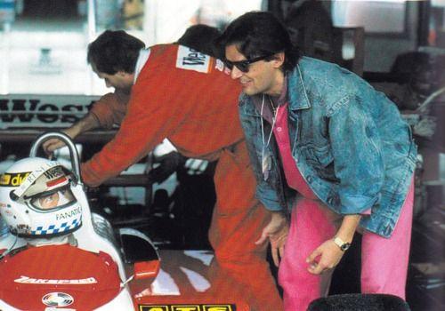 quiesquietis:  Falco at an F1 race, 1988