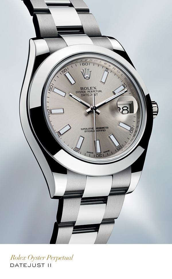 Influenced by the pioneering Datejust, the date on the Datejust II is displayed in a window at 3 o'clock and changes instantaneously at midnight. #RolexOfficial