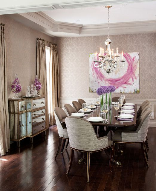 Best 25 traditional dining rooms ideas on pinterest for Dining room decorating ideas wallpaper