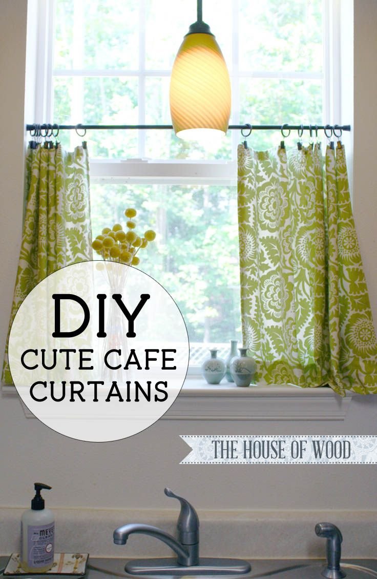 Make your own cute DIY cafe curtains with this easy, step-by-step tutorial by Jen Woodhouse from The House of Wood. Easy, super cute, beginner DIY project!