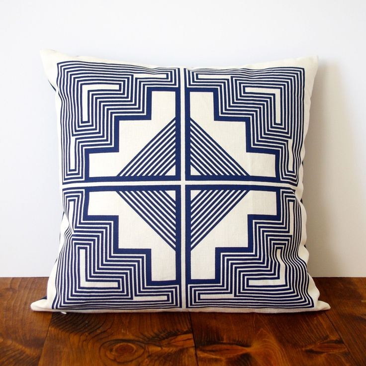 Southwestern Indigo Throw Pillow Cover