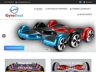 Gyrodeal est une boutique de hoverboard et de gyropodes pas cher.