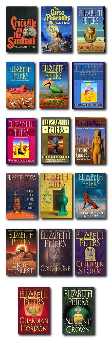 I have read EVERYTHING  written by Elizabeth Peters and Barbara Michaels.  she is a WONDERFUL writer.  Amelia Peabody Books By Elizabeth Peters - Great Series!!!