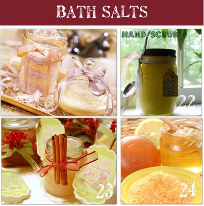 Homemade bath salts - easy, inexpensive, and a treat for Mom any day of the year!