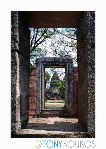 doorways, pathway, thailand, frames, stone, masonry, spiritual, temple, Phanom Rung, foliage