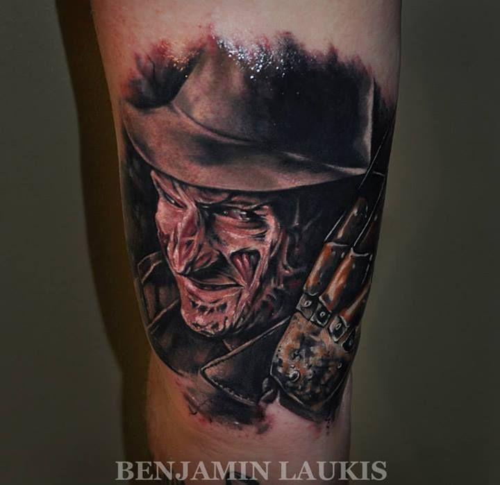 Freddy Krueger - A Nightmare On Elm Street Tattoo By Benjamin Laukis