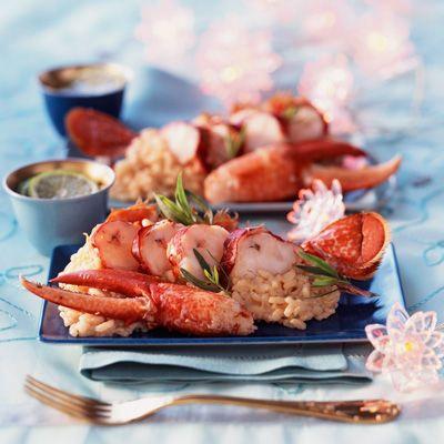Découvrez la recette Risotto de homard sur cuisineactuelle.fr.