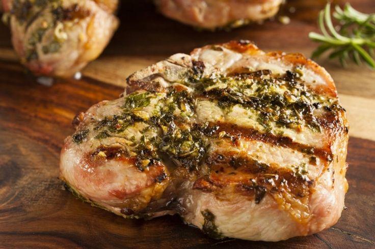 Côtelettes de porc...marinade balsamique et moutarde de Dijon