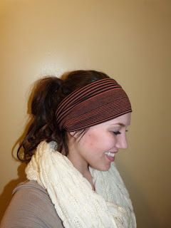 The job of a new mom: How To: Make a Wide Stretchy Headband
