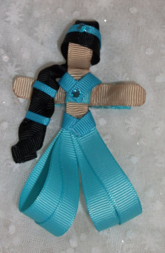Princess Jamine Alladin Boutique Hair Clip by SewSpecialbyDebby, $8.00