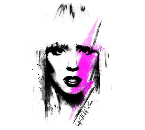 Lady Gaga - Top Magazine UK - Illustration by ©Luis Tinoco - WWW.LUISTINOCO.COM