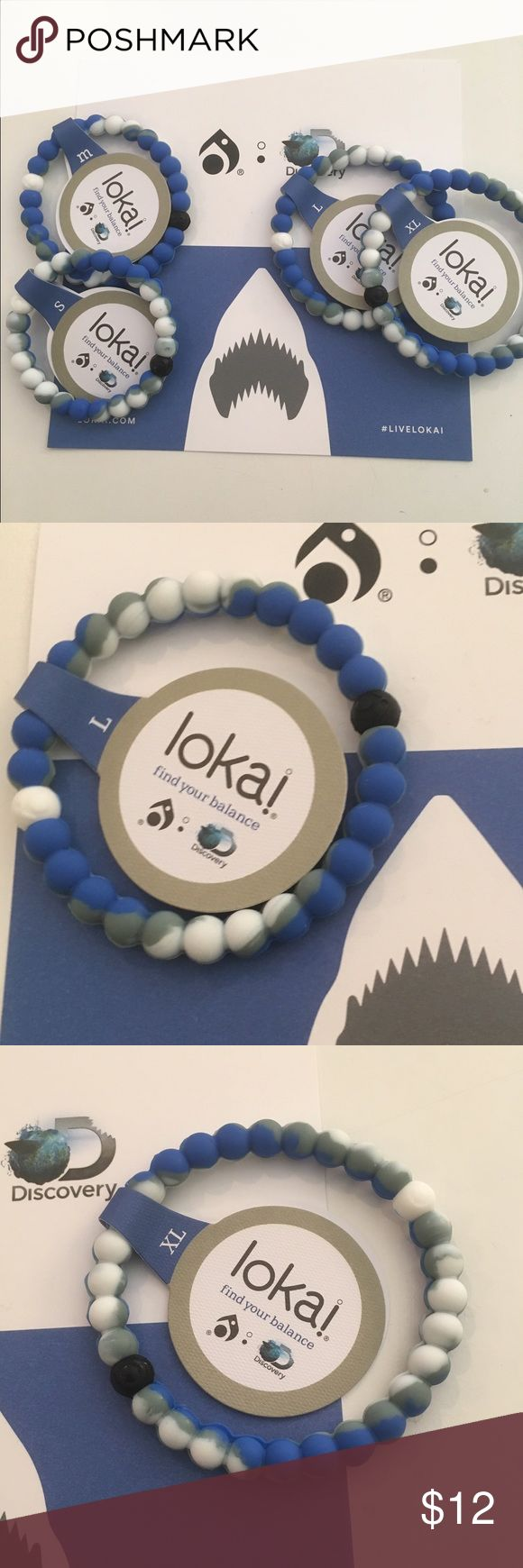 Limited edition Shark Lokai's! Just in These limited edition shark Lokais just came in.  I have a limited amount! When they are gone...they are gone!  Just in time for shark week! Lokai Jewelry Bracelets