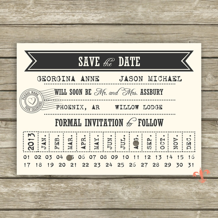 25 best Stationary: Save the Date images on Pinterest