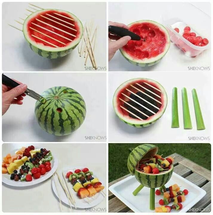 Cute fruit display for cook out - especially Memorial Day, 4th of July or Labor Day