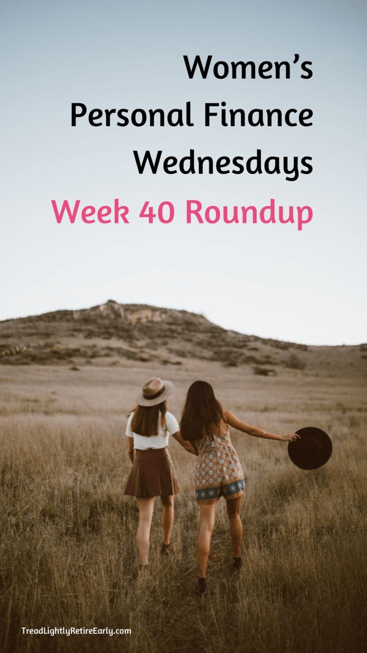 Women's Personal Finance Wednesdays: Week 40 Roundup
