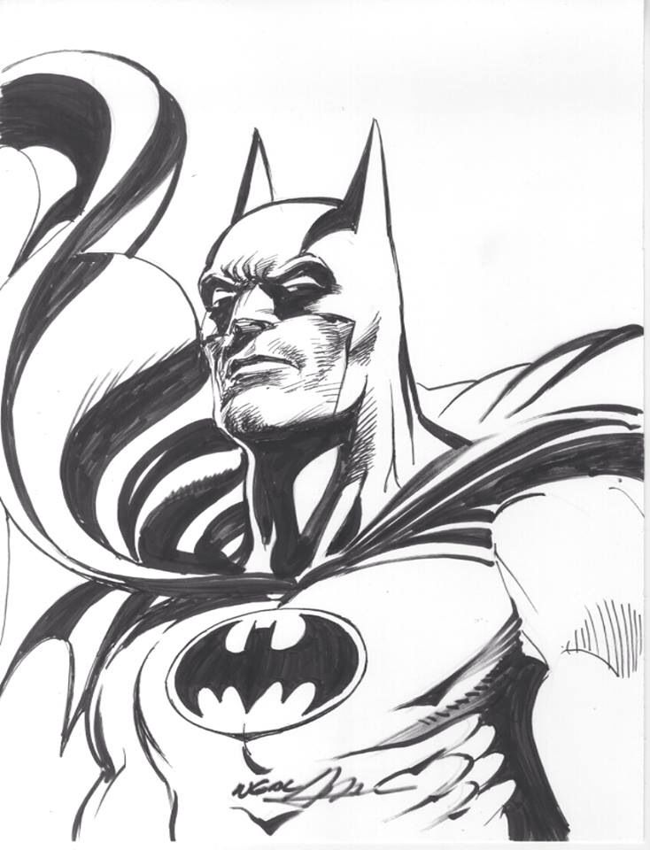 Neal Adams Batman Sketch | The Bat Man | Pinterest | Sketches And Batman