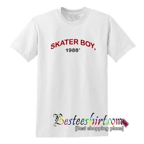 Skater Boy 1988 T-Shirt from besteeshirt.com This t-shirt is Made To Order, one by one printed so we can control the quality.