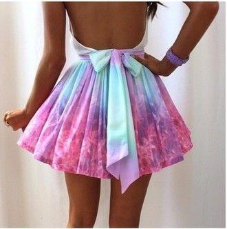 robe de colorant tie dye robe noeud papillon robe pastel robe turquoise robe de patineur d'arc robe dos nu dos nu rose robe d'été jolie robe