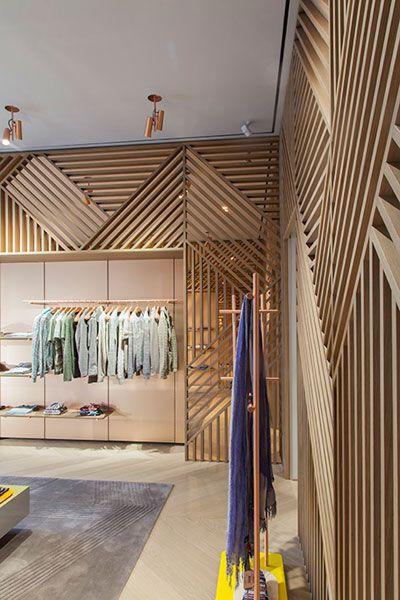 Herringbone Lattice at Missoni Store, Milan - by Urquiola