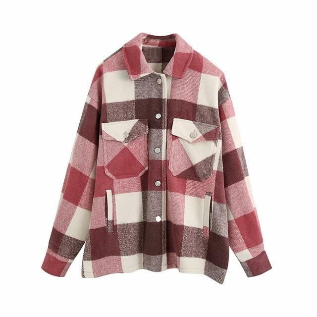 Brand Name: KPYTOMOAOrigin: CN(Origin)Season: Spring/AutumnClothing Length: RegularType: LooseGender: WOMENAge: Ages 18-35 Years OldCollar: Turn-down CollarClosure Type: Single BreastedItem Type: Outerwear & CoatsStyle: STREETWEARSleeve Length(cm): FullSleeve Style: RegularThickness: STANDARDHooded: NoOuterwear Type: JacketsMaterial: PolyesterDecoration: PocketsPattern Type: Plaid Plaid Coat, Plaid Jacket, Winter Jackets Women, Coats For Women, Plaid Shirt Women, Polyester Material, Oversized Jacket, Plaid Fabric, Loose Tops